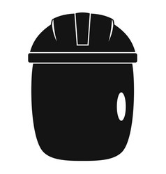 Glass welding mask icon simple vector