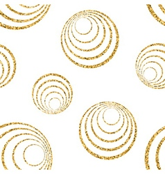 Gold concentric circle seamless pattern white 1 vector