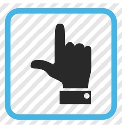 Hand pointer up icon in a frame vector