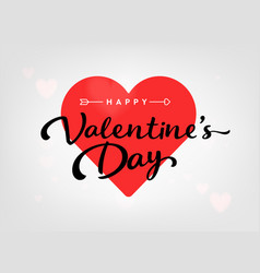 Happy valentines day card with hearts and arrow vector