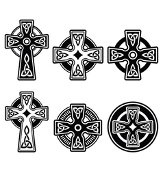 Irish Scottish Celtic cross on white sign vector image