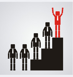 leadership and teamwork concept the business vector image vector image