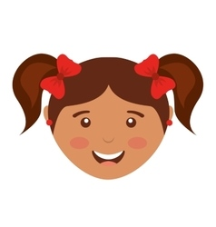 Little girl avatar isolated icon design vector