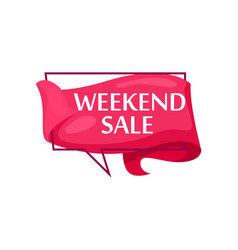 Marketing speech bubble with weekend sale phrase vector
