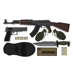 Military weapon pack vector