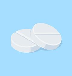 Pair of medical tablets pills vector