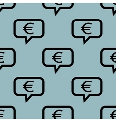 Pale blue euro message pattern vector image vector image