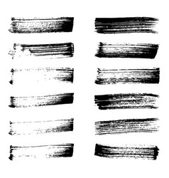 Set of black ink vector