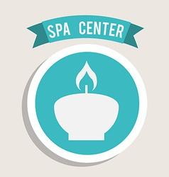Spa center design vector