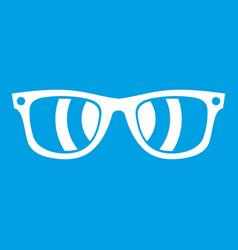 sunglasses icon white vector image
