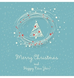 with Christmas tree vector image