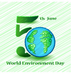 world environment day sign on colorful background vector image