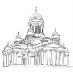 Drawing of the cathedral vector