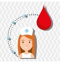Woman medical staff blood vector