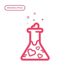 Icon concept chemestry of vector
