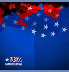 Usa color flag design vector