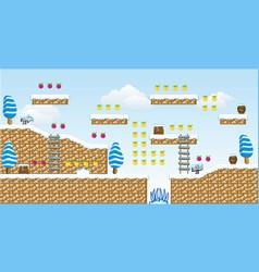 2d tileset platform game 13 vector