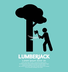Lumberjack with axe symbol vector
