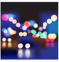 night street vector image