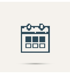 Simple stylish pixel icon calendar design vector
