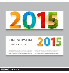 Banner set 2015 happy new year vector