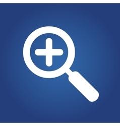 Web icon in zoom Icon vector image