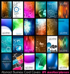24 abstract quality background for business cards vector
