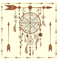 Dream catcher arrows beads ethnic indian vector