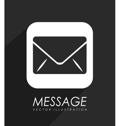 Mail message icon vector