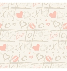 Grunge seamless pattern with hand painted vector