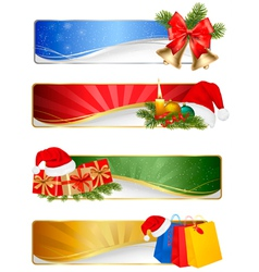 winter christmas banners vector image