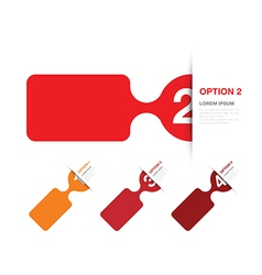 red option background vector image