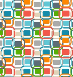 70s retro graphics seamless pattern vector image