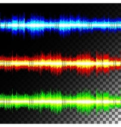 Special effects multicolored equalizer vector image