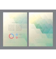 Abstract triangles brochure template vector
