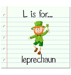 Alphabet L is for leprechaun vector image