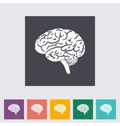 Brain icon 2 vector image vector image