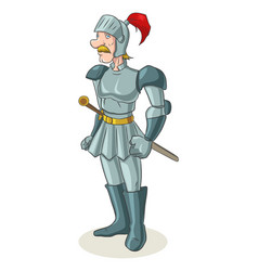 cartoon of an old medieval knight vector image