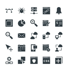 Design and development cool icons 4 vector