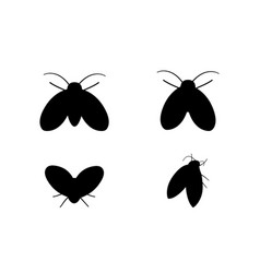 drain fly icons in silhouette style design vector image