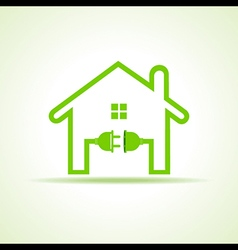 Eco home concept with plug and holder stock vector image vector image