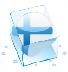 frozen button flag of finland vector image