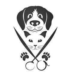 Hairdresser for cats and dogs vector