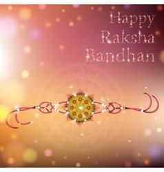Happy Raksha Bandhan celebration vector image vector image