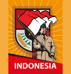 indonesia vector image