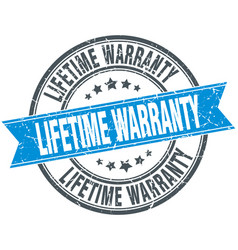 Lifetime warranty vector