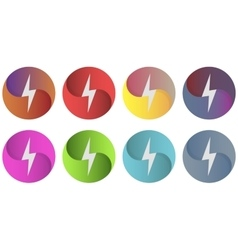 Multicolor circles logo whith lightning vector