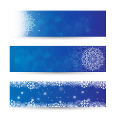 new year and xmas banner collection vector image vector image