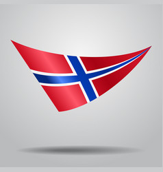 Norwegian flag background vector