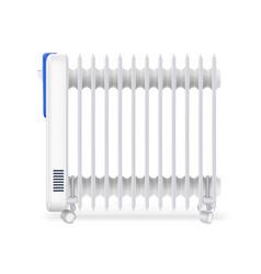 Oil radiator isolated on white background white vector